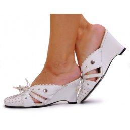 KLAPKI NA KOTURNIE NA szczupłą stopę